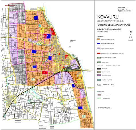 layout approval process in andhra pradesh kovvuru master development plan map pdf download master