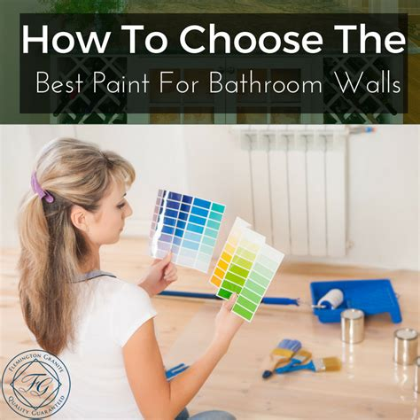 how to paint bathroom walls how to choose the best paint for bathroom walls