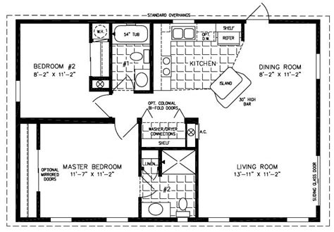 Oakwood Mobile Homes Used Modern Modular Home 2 Bedroom House Plans One Level Doublewide
