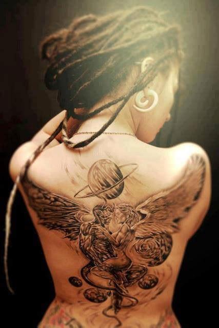 tattoo love angel demon angel love tattoo on back tattooshunt com