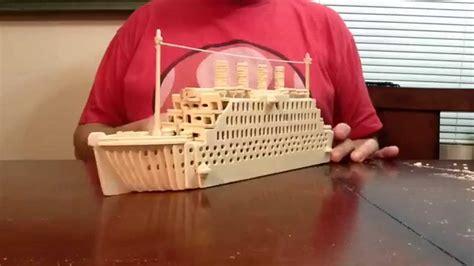titanic wood craft construction kit time lapse youtube