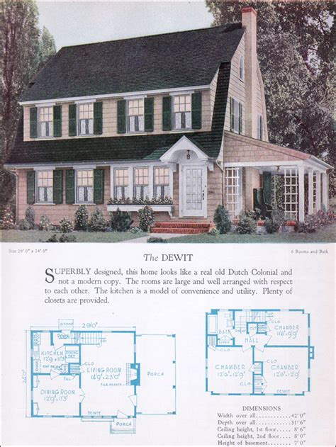 dutch gambrel house plans the 1928 dewit dutch colonial revival gambrel barn