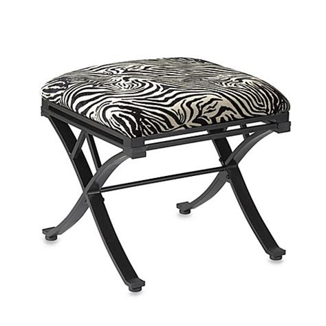 zebra vanity bench buy linon home zebra vanity stool from bed bath beyond