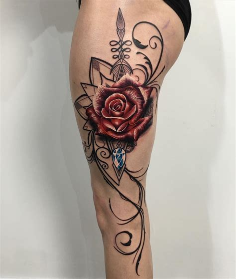 rose tattoos for legs this on leg ideas tattoos