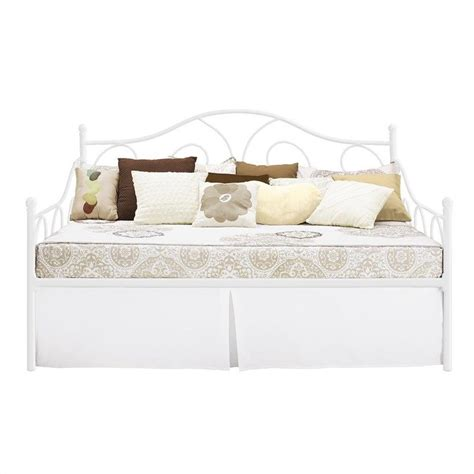 full day bed metal full daybed in white 4022139
