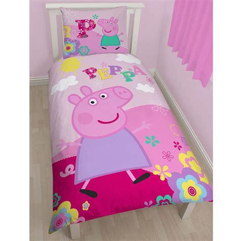 Peppa Pig Bed Set Duvet Peppa Pig 100 Cotton Duvet Cover Set European Single Size Bedding