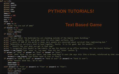 tutorial python text adventure python tbrpg tutorials 1 installation minecraft blog