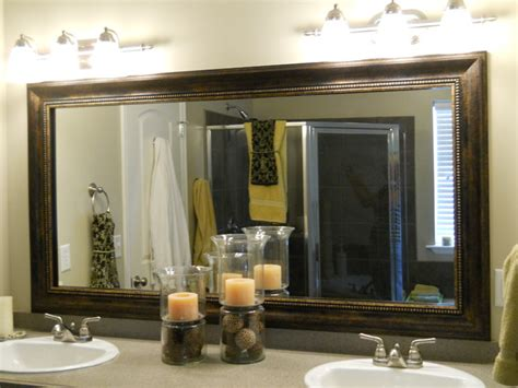 How To Frame An Existing Bathroom Mirror Mirror Frame Kit Traditional Bathroom Mirrors Salt Lake City By Reflected Design