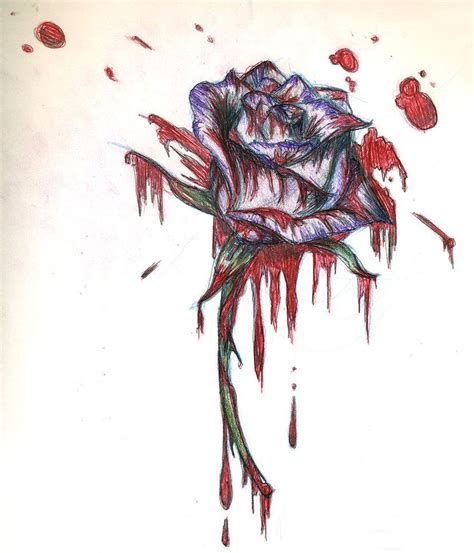 bleeding black rose tattoo bleeding tattoos bleeding