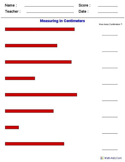 Measurement Spreadsheet by 1000 Images About Measurement Worksheets On