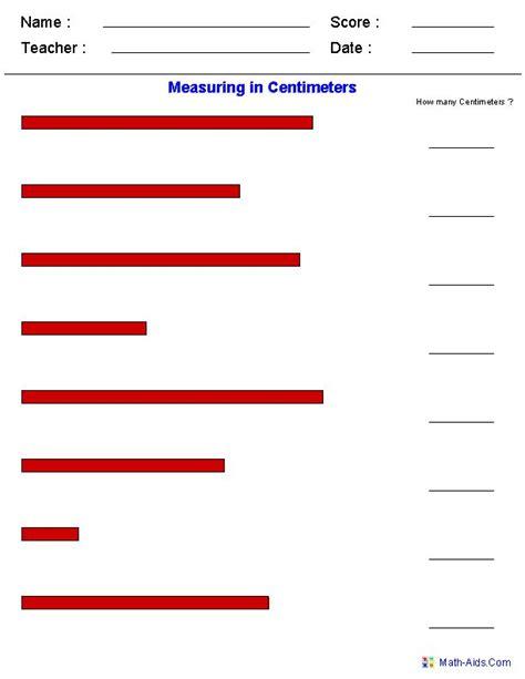 Measuring In Centimeters Worksheet 1000 images about measurement worksheets on
