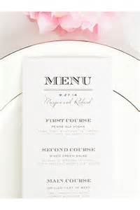 5 course meal menu template 25 best ideas about menu cards on wedding