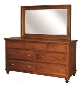 middleton dresser with mirror herron s amish furniture