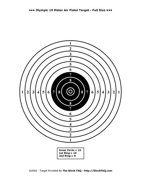 air pistol targets printable january 2012 handgun shootout