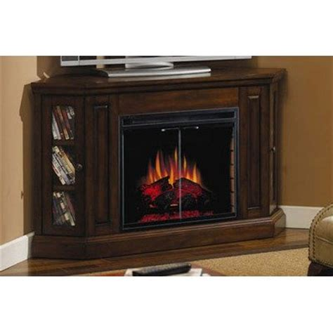 Corner Gas Fireplace Tv Stand by Corner Electric Fireplace Tv Stand In Burnished