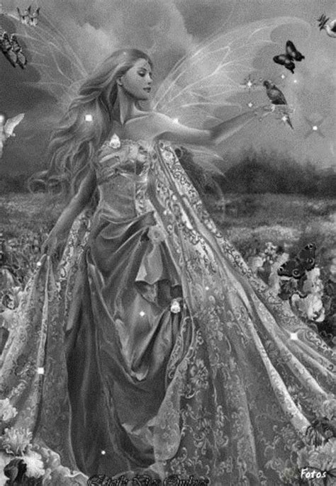 fairy grayscale coloring images  pinterest