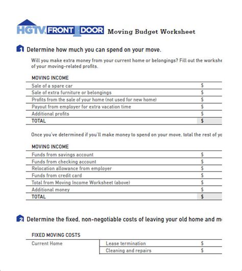 Moving Budget Template 28 Images Moving Budget Worksheet Wiildcreative Office Relocation Moving Expenses Spreadsheet Template