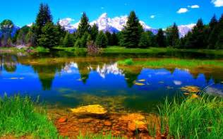 colorful landscapes green mountains clouds landscapes nature trees colorful