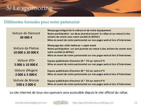 Sponsor Letter En Francais Dossier Sponsor Gazelles De Lardy Rallye Des Gazelles 2015