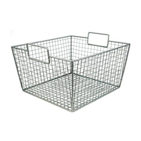 Closetmaid Baskets Closetmaid 16 1 2 In X 14 In Stack Or Hang Wire Storage