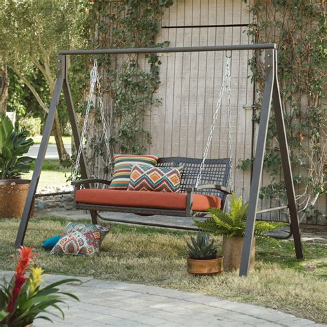 porch swing with stand belham living universal a frame metal porch swing stand jet com