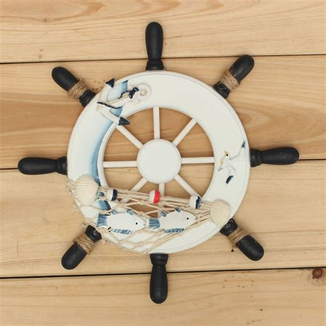 ship wheel decor 9 quot wood boat ship wheel nautical decoration home