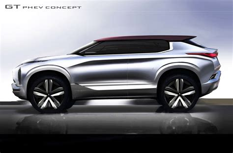 mitsubishi concept mitsubishi gt phev concept 25 kwh battery 3 electric motors