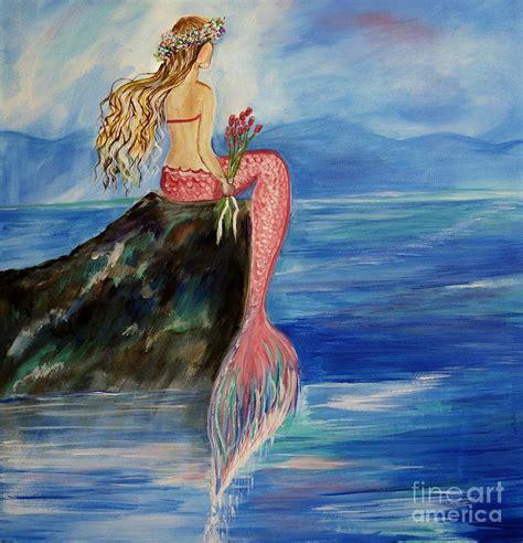 mermaid painting mermaid wishes by leslie allen