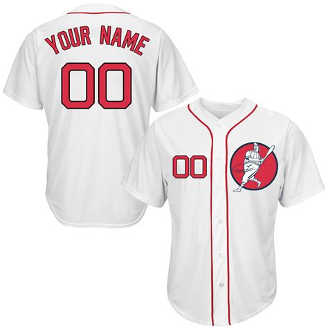 design jersey red new red sox white men s customized new design jersey cheap