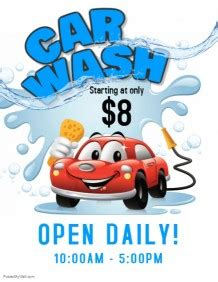 Customize 260 Car Wash Flyer Templates Postermywall Car Wash Flyer Template
