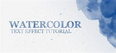 photoshop tutorial watercolor text 90 text effect tutorials done in photoshop pixel curse