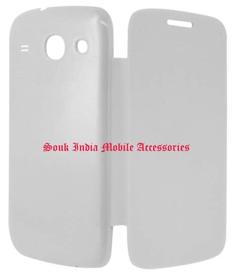 Flipcover Samsung Core2 samsung galaxy 2 g355 flipcover white in india