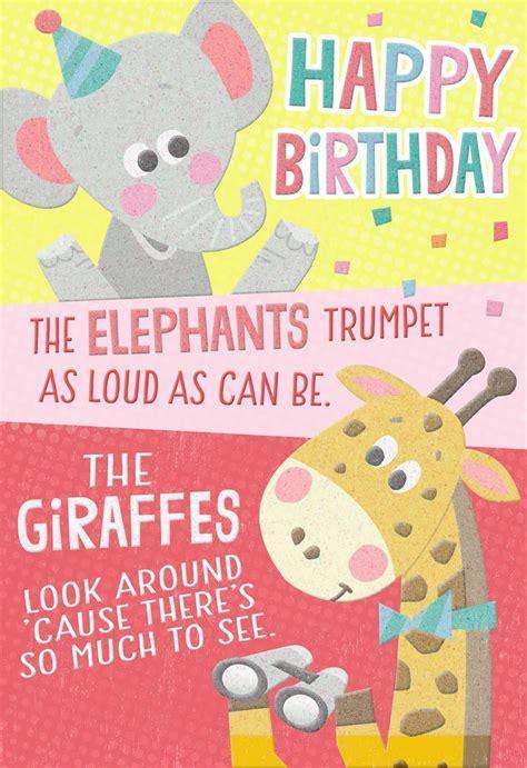 Wild Animals Birthday Card   Greeting Cards   Hallmark