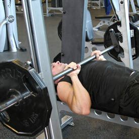 close grip smith machine bench press kris gethin 12 week daily video trainer week 5 day 33