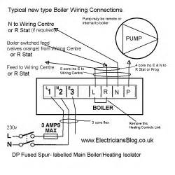 modern central heating boiler wiring connection diagram5 electrician s