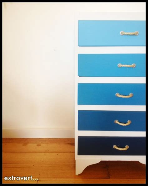 shades of blue ombre chest of drawers dresser changing apprentice extrovert blue ombre dresser with diy handles