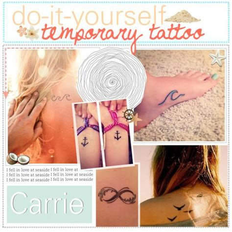 temporary tattoo with pen and hairspray diy temporary tattoo polyvore just draw on a tattoo