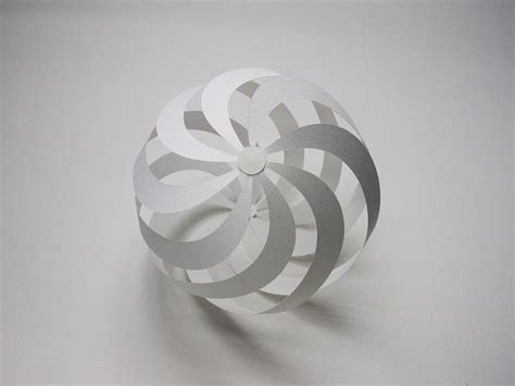 How To Make A 3d Sphere With Paper - spiral sphere by jun mitani via flickr paper crafts