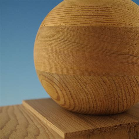 Wood Ball Top Post Cap By Woodway Decksdirect