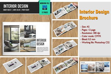 interior design brochure  brochure templates