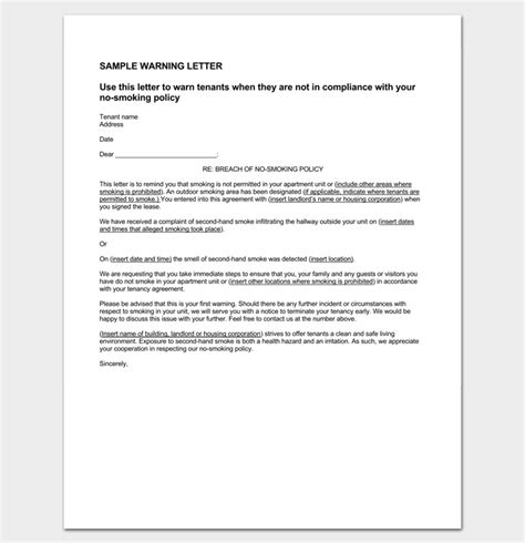 Explanation Letter Violating Company Policy Tenant Letter Template 9 Docs Sles Exles Dotxes