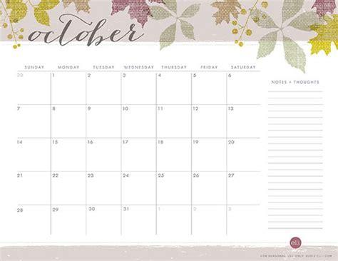 printable calendar elli october calendar template fabulous freebies pinterest