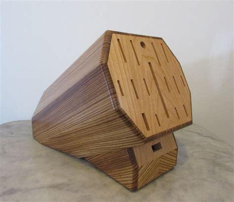 custom knife blocks made custom zebrawood knife block by woodworking plus custommade