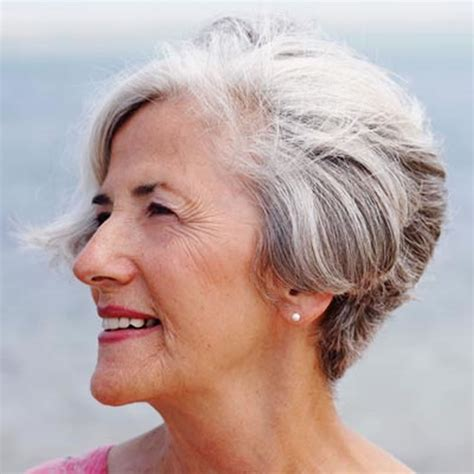 short hairstyles for seniors with grey hair short gray hairstyles for older women over 50 gray hair