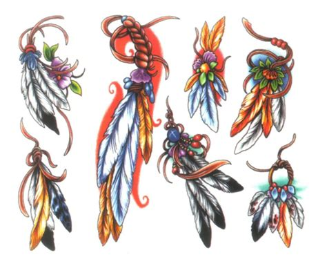 indian feather tattoo design 21 indian designs