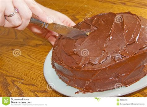 cut cake cutting a chocolate cake stock photo image of birthday