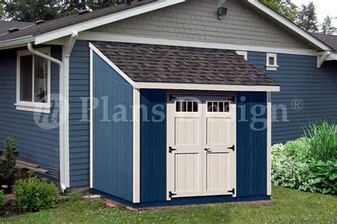 shed plans    deluxe lean  roof style dl