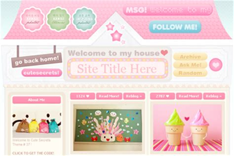 tumblr themes html kawaii tumblr themes cute
