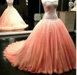 Peach wedding dress pinkous