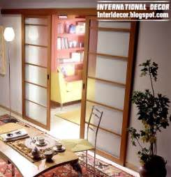 wooden glass sliding doors interior decor idea modern sliding doors designs wide for